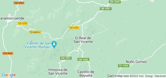 Mapa de Real de San Vicente