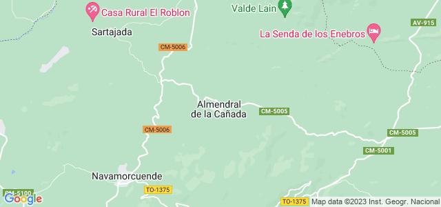 Mapa de Almendral de la Cañada