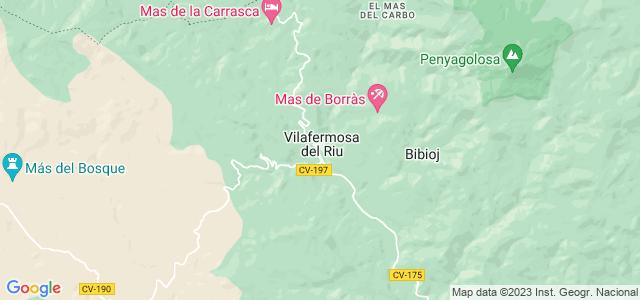 Mapa de Villahermosa del Río