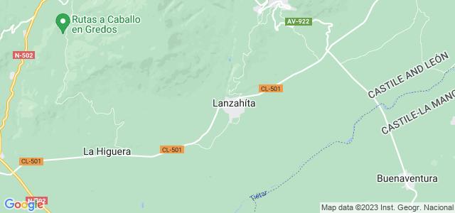 Mapa de Lanzahíta