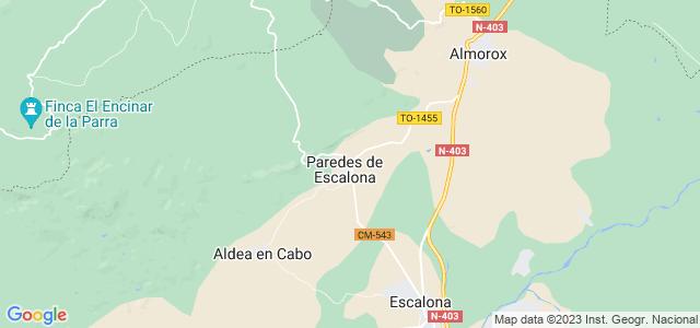 Mapa de Paredes de Escalona