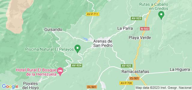 Mapa de Arenas de San Pedro