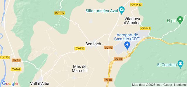 Mapa de Benlloch