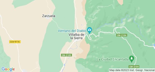Mapa de Villalba de la Sierra