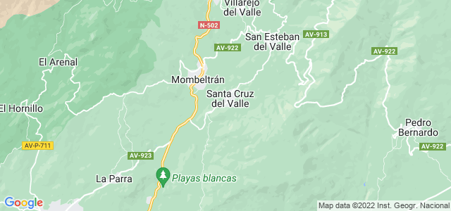 Mapa de Santa Cruz del Valle