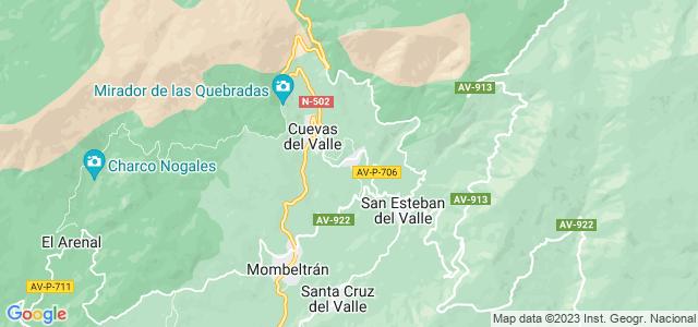 Mapa de Villarejo del Valle