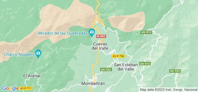 Mapa de Cuevas del Valle
