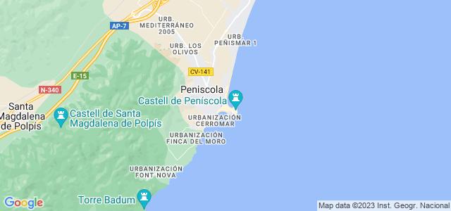 Mapa de Peníscola - Peñíscola