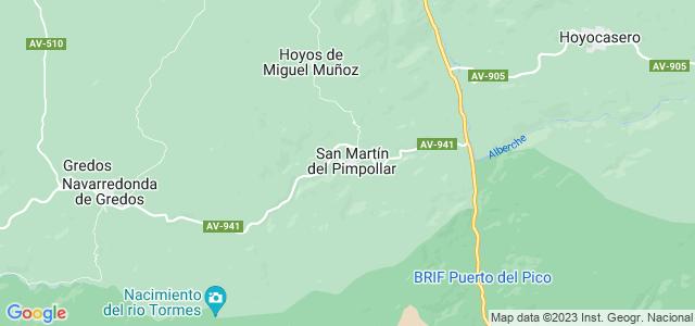 Mapa de San Martín del Pimpollar