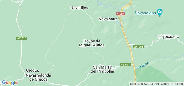 Mapa de Hoyos de Miguel Muñoz