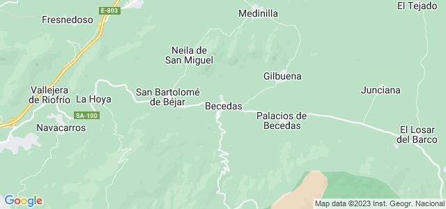 Mapa de Becedas
