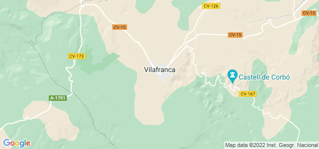 Mapa de Villafranca del Cid - Vilafranca