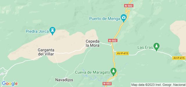 Mapa de Cepeda la Mora