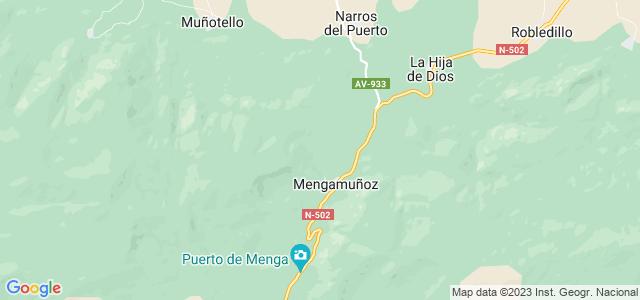 Mapa de Mengamuñoz