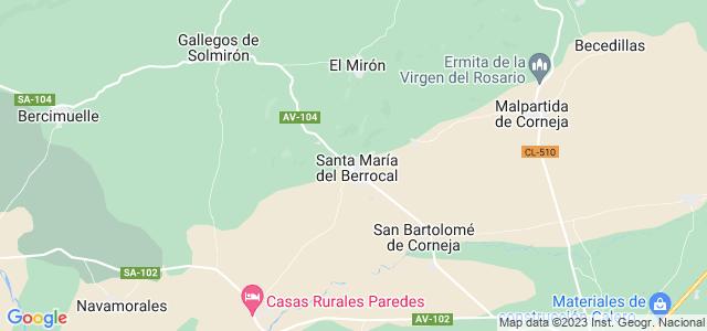 Mapa de Santa María del Berrocal