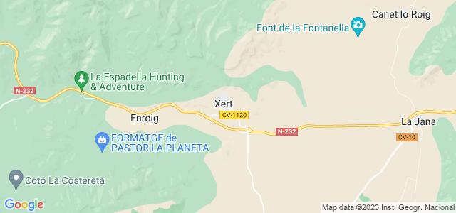 Mapa de Chert - Xert