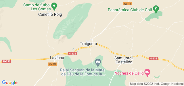 Mapa de Traiguera