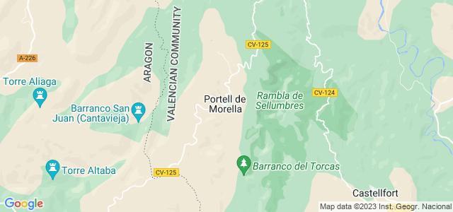Mapa de Portell de Morella