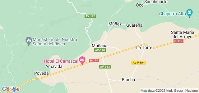 Mapa de Muñana