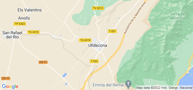 Mapa de Ulldecona