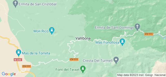 Mapa de Vallibona