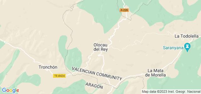 Mapa de Olocau del Rey