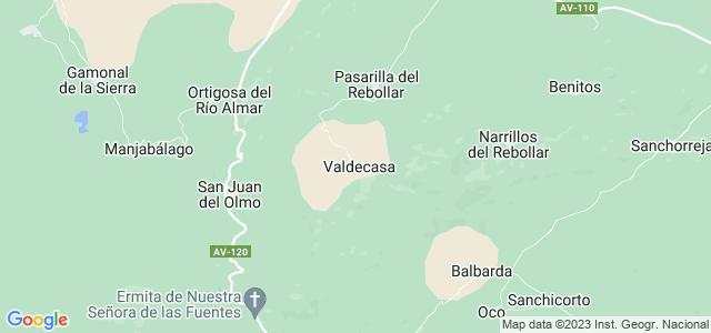 Mapa de Valdecasa