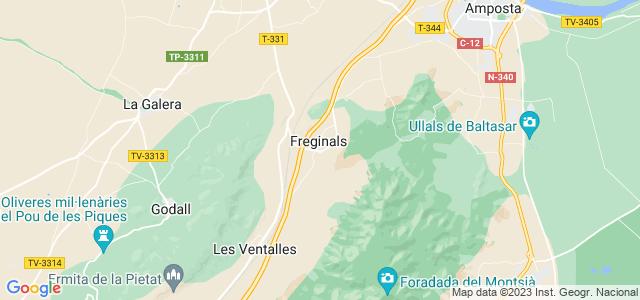 Mapa de Freginals