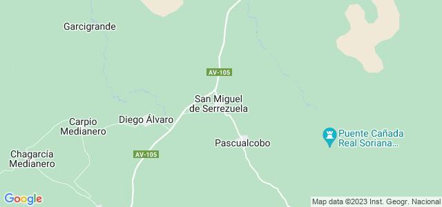 Mapa de San Miguel de Serrezuela