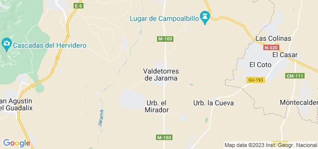 Mapa de Valdetorres de Jarama