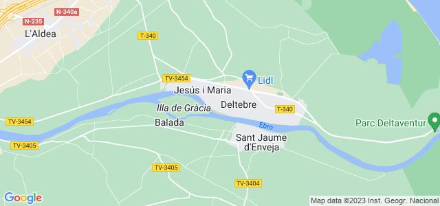 Mapa de Deltebre