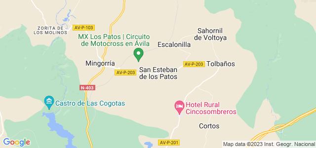 Mapa de San Esteban de los Patos