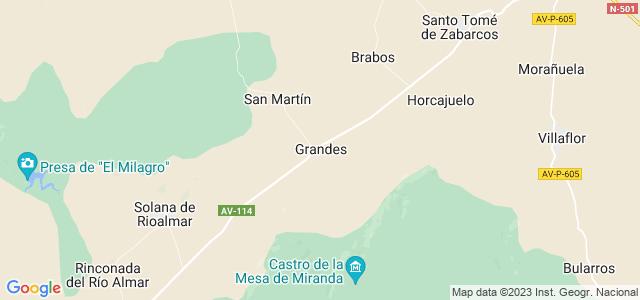 Mapa de Grandes y San Martín