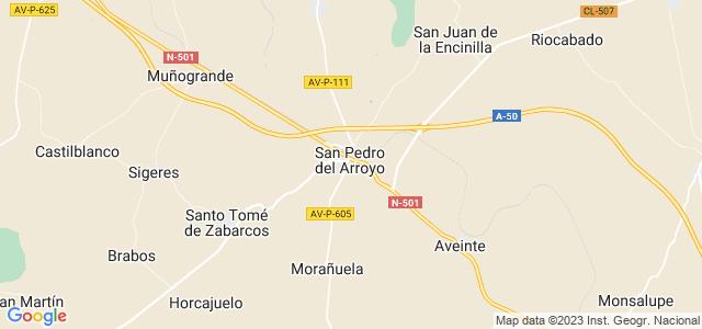 Mapa de San Pedro del Arroyo
