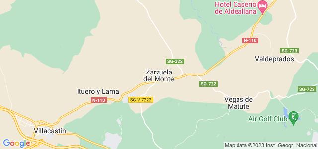 Mapa de Zarzuela del Monte