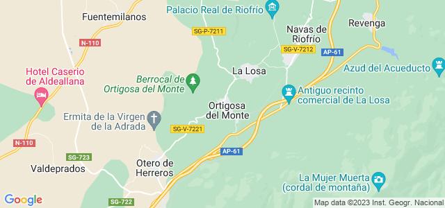 Mapa de Ortigosa del Monte