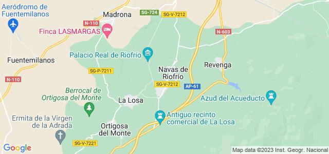 Mapa de Navas de Riofrío