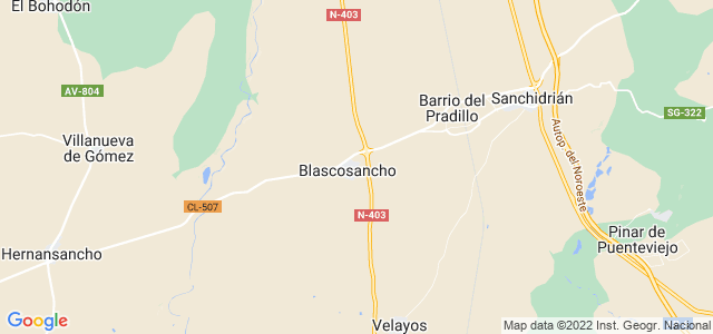 Mapa de Blascosancho