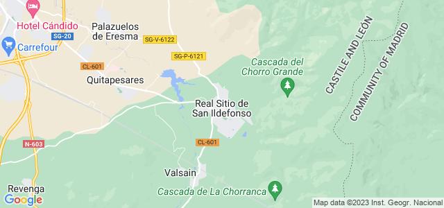 Mapa de San Ildefonso