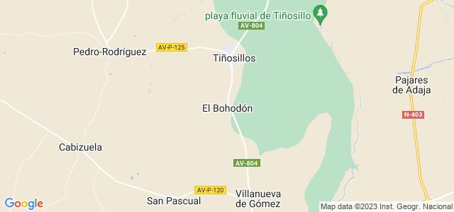 Mapa de Bohodón