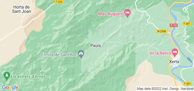 Mapa de Paüls