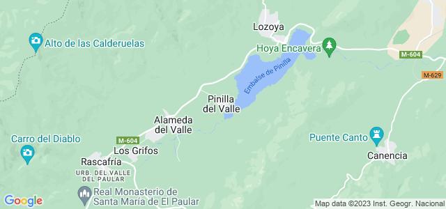 Mapa de Pinilla del Valle