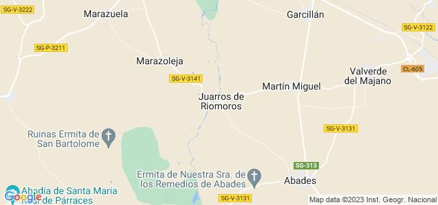 Mapa de Juarros de Riomoros