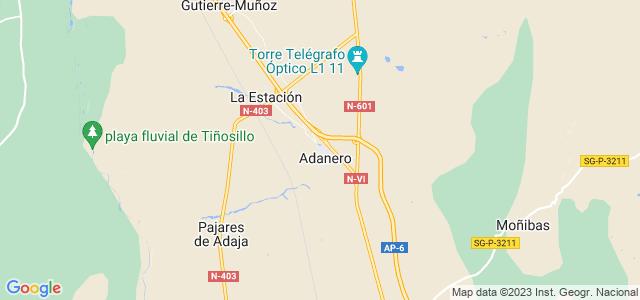 Mapa de Adanero