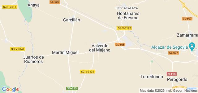 Mapa de Valverde del Majano