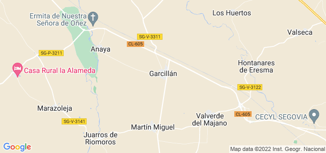 Mapa de Garcillán