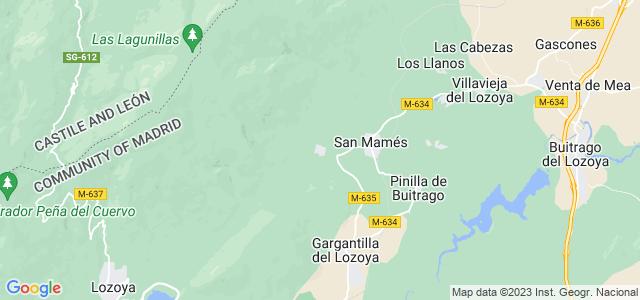 Mapa de Navarredonda y San Mamés