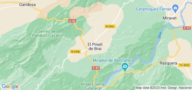 Mapa de Pinell de Brai