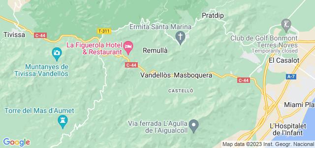 Mapa de Vandellòs i lHospitalet de lInfant