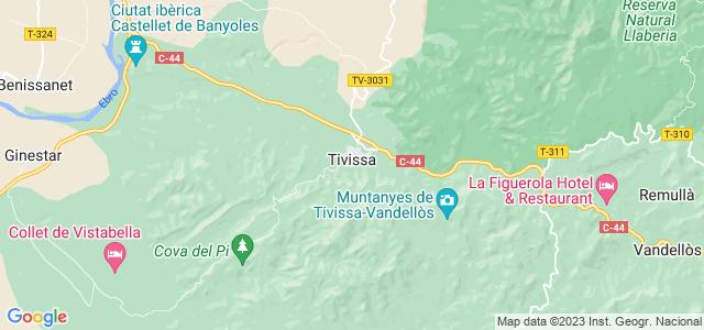 Mapa de Tivissa